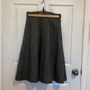 Mod Cloth wool a-line skirt w pockets